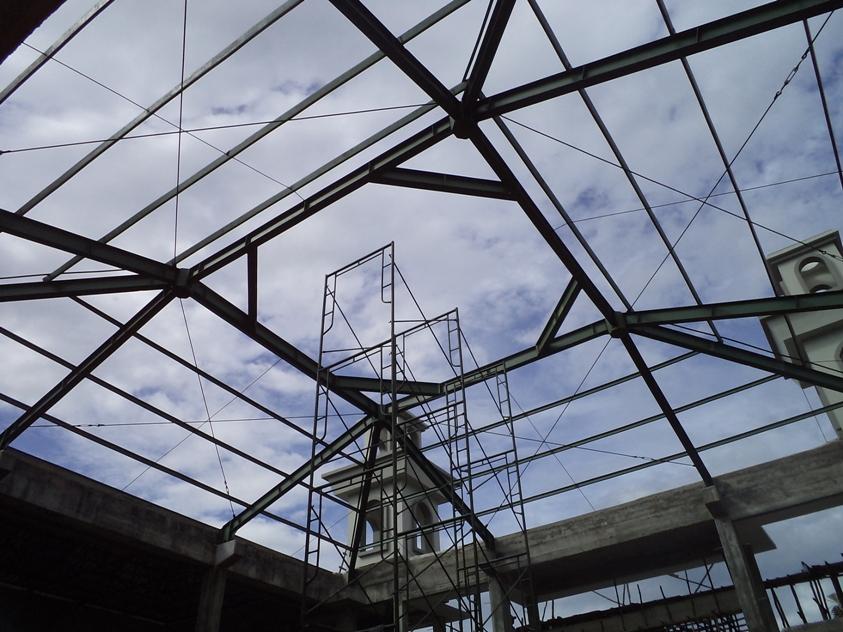 Konstruksi Baja Atap Masjid Nurul Huda Belitung Timur