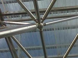 Space Frame, atap, canopy, pipa, bola baja, skylight, galvanis